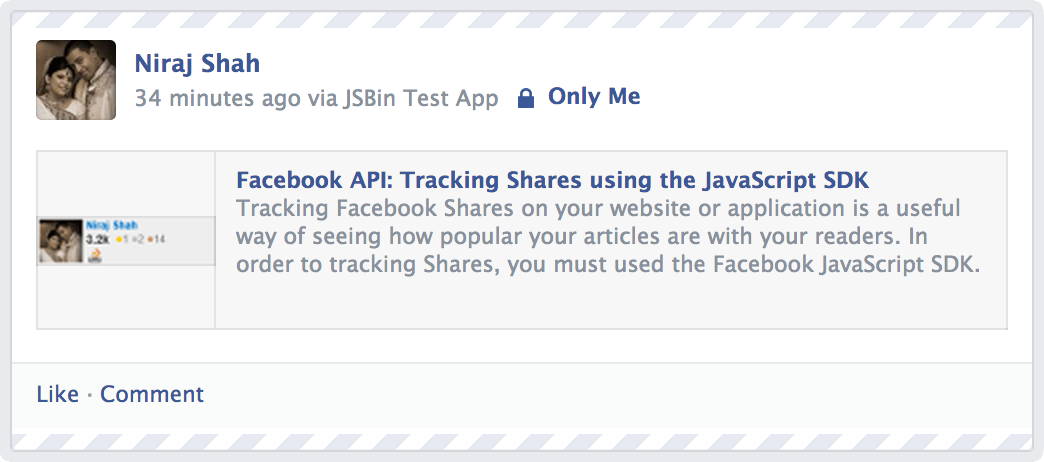 Facebook Share Tracking