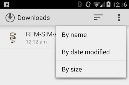 Android 4.4 KitKat Downloads App