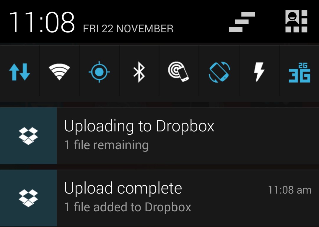 Dropbox Notifications