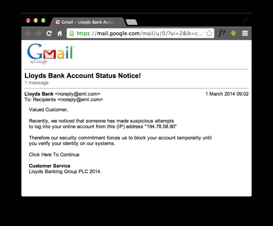 Lloyds Phishing