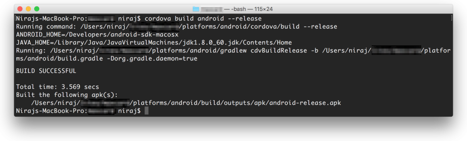 Cordova-Android-Releas-Build